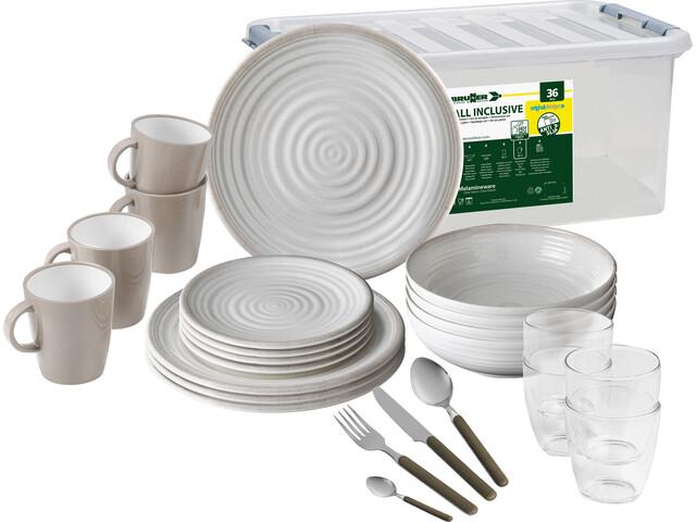 Brunner All Inclusive Dishes Set 36 Pieces, design savana